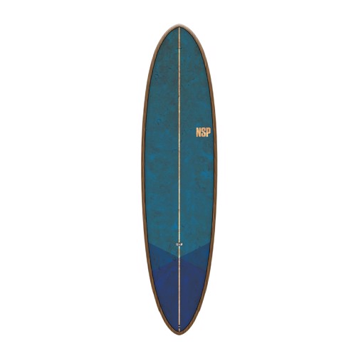 "NSP Coco Dream Rider 7'6"" Flax Tail Dip Blue Surfboard"