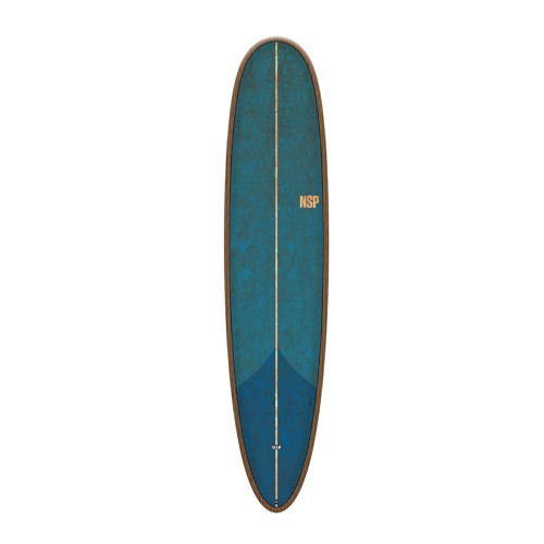"NSP Coco Hooligan 9'0"" Flax Tail Dip Blue Surfboard"